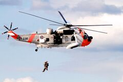 Air sea rescue Royalty Free Stock Photo
