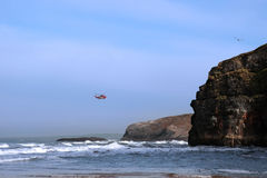 Air sea rescue coastal cliff search Royalty Free Stock Image