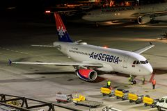 Air Serbia. At Stuttgart Airport Stock Photography