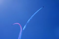Air Show. Air acrobatics Royalty Free Stock Photos