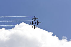 Air show. Finnish team during Air show in Poland 2009 Royalty Free Stock Photo