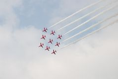 Air Show. Flying display at an airshow Royalty Free Stock Photography