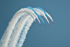 Air show. Acrobats in formation Stock Photos