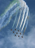 Air show. Acrobats in formation Royalty Free Stock Photography