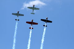 Air show. Cascais air show, in Portugal Royalty Free Stock Photos