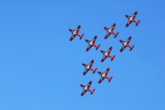 Air Show. Snow birds at air show in Toronto Stock Images