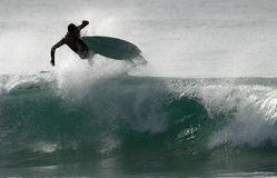Air show. Surfer on the air - Garopaba - Brazil Stock Image