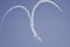 Air show at Ahmedabad, India Stock Photos