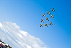 Air Show In Auckland Royalty Free Stock Image