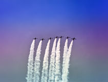 Air show at autodrome  Royalty Free Stock Images
