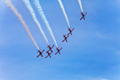 Air show at autodrome  Stock Image