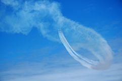 Air show background. Background with Casa C-101 aircraft Stock Photo