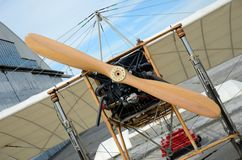 Air show - Bleriot plane replica Stock Photo