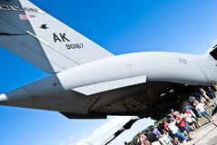 Air show.Boeing Globemaster  C-17 Royalty Free Stock Photography