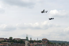 Air show in Budapest Stock Photography