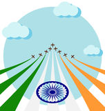 Air show for celebrate the national day of India Royalty Free Stock Images