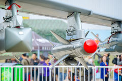 Air show details. In 2014, in Zhuhai, held a grand exhibition of advanced aircraft, aviation, aviation equipment and defense equipment to participate in the air Stock Image