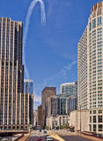 Air Show, Downtown Chicago Stock Image
