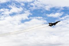 Air Show of Fighter Aircrafts Stock Photos