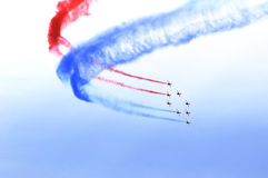 Air show flag Royalty Free Stock Photos