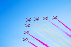 Air show  during The Formula 1 Grand Prix Royalty Free Stock Photography