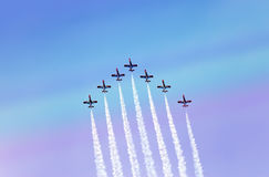 Air show  during The Formula 1 Grand Prix at autodrome  Stock Images