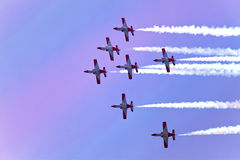 Air show  during The Formula 1 Grand Prix at autodrome  Royalty Free Stock Photography