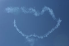 Air show, lips in the sky Royalty Free Stock Photo