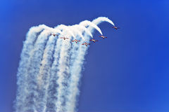 Air show  on May 9, 2010 in Barcelona. Stock Photos