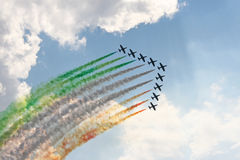 Air show in Moscow (Russia) Royalty Free Stock Photos