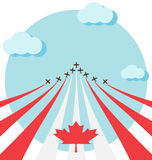 Air show for the national day of Canada Stock Image