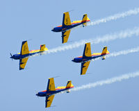 Air show plane formation Royalty Free Stock Photos