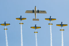 Air show planes formation stock image