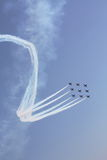 Air Show Rectangle formation. Southend Air show. 24th of may. Rectangle formation Royalty Free Stock Image