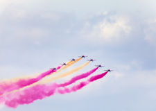 Air show in the sky Royalty Free Stock Photos