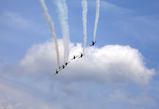 Air show in the sky Stock Photography