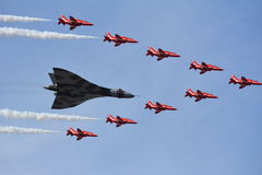 Air Show Southport Red Arrows / Vulcan Bomber Stock Photos
