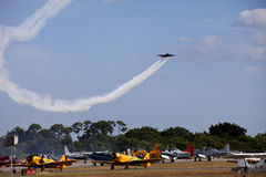 Air Show in Stewart Florida Royalty Free Stock Images