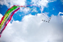 Air show in a summer day Stock Photography