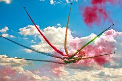 Air show in a summer day Royalty Free Stock Image