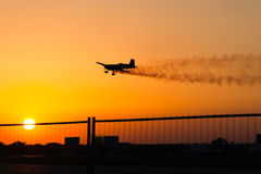 Air show at sunset Stock Photography