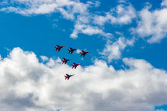 Air show swifts Stock Images