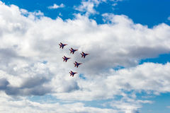 Air show swifts Royalty Free Stock Images
