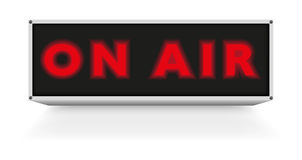 On Air Sign Stock Photos