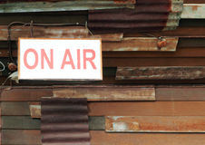 On air sign Stock Photography