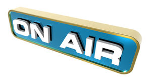 On Air sign. Royalty Free Stock Image