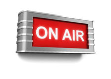 On air sign Stock Photo