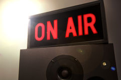 On Air Sign with Flare Stock Image