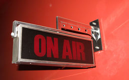 On air sign in TV and radio broadcast Royalty Free Stock Photo