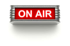 ON AIR sign. On white background - 3D illustration